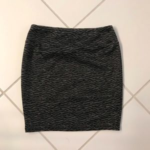 Nordstrom's Black & Gray Bodycon Tube Skirt